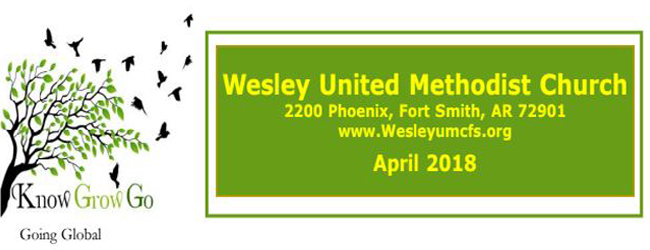 May 2018 Wesley United Methodist Church Fort Smith Arkansas Newsletter